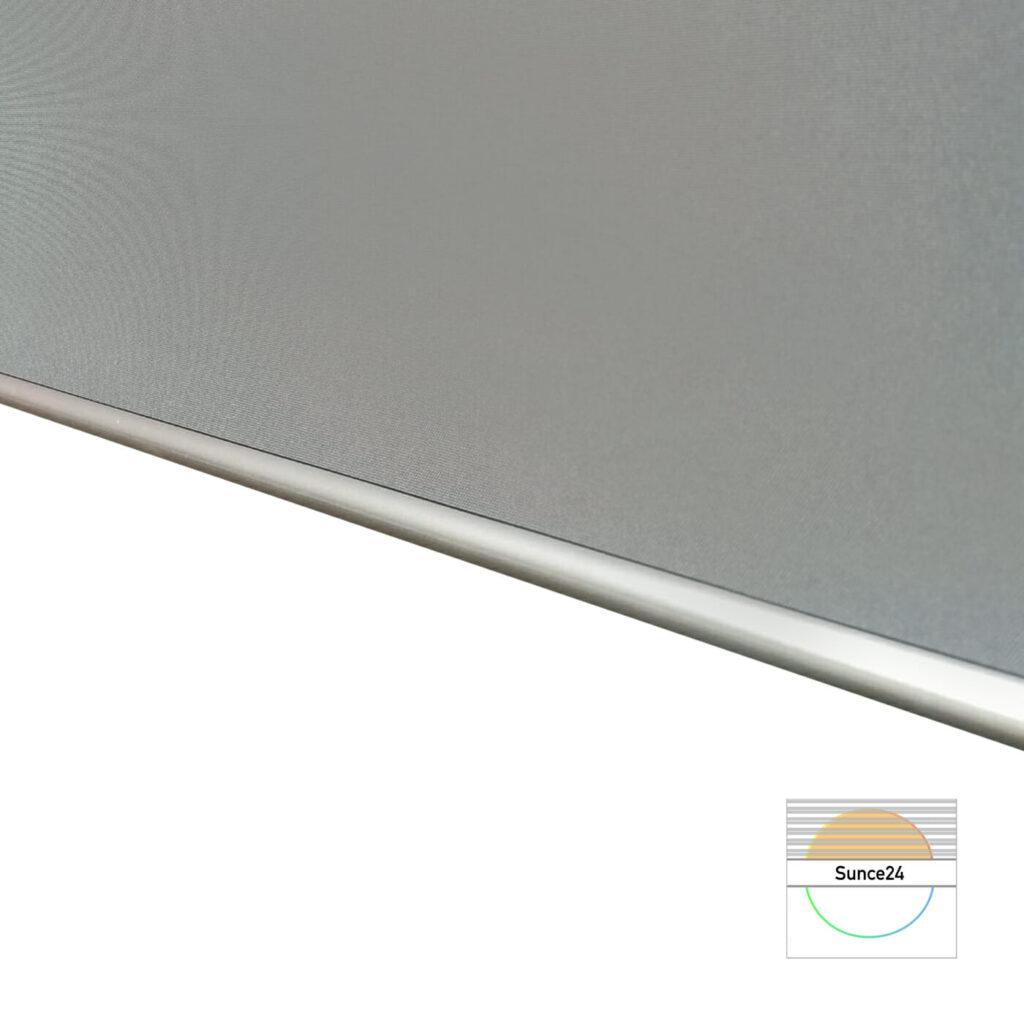 Verdunkelungsrollo online kaufen, Aluminiumrolle, Thermobeschichtung, Grau
