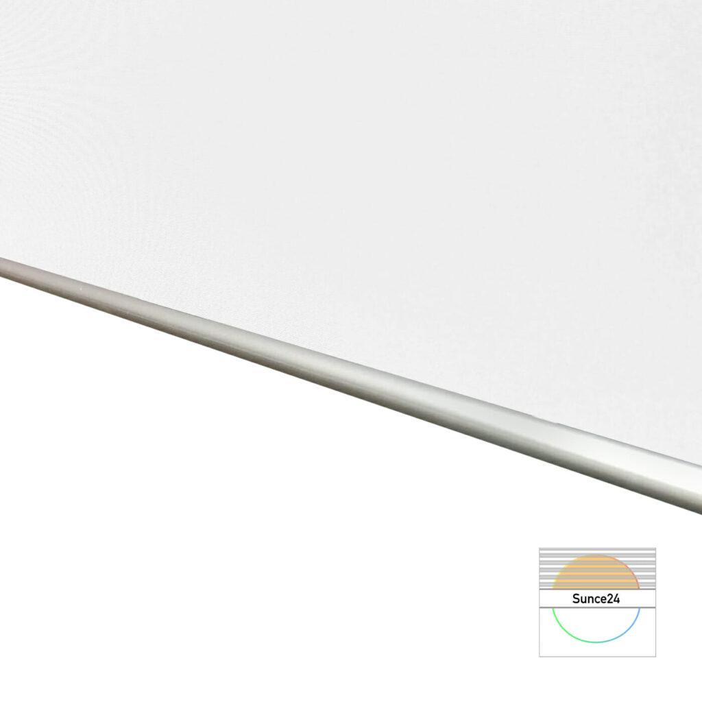 Verdunkelungsrollo online kaufen, Aluminiumrolle, Thermobeschichtung, Weiß