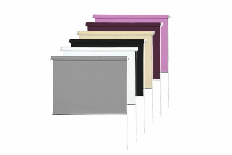 Rollos hintereinander farben grau