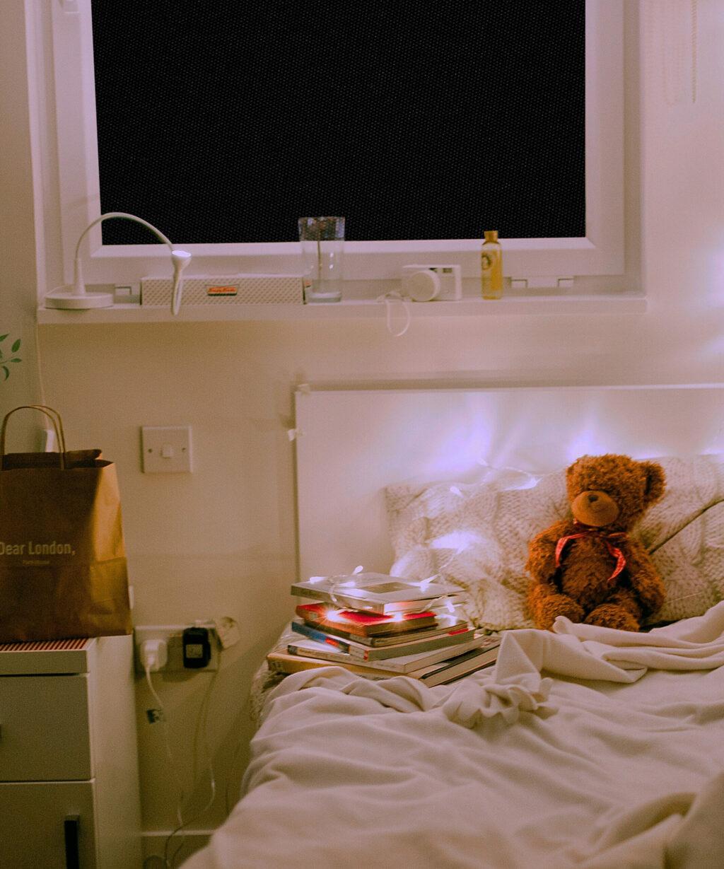 Verdunklungsstoff 100% blackout schlafzimmer schwarz