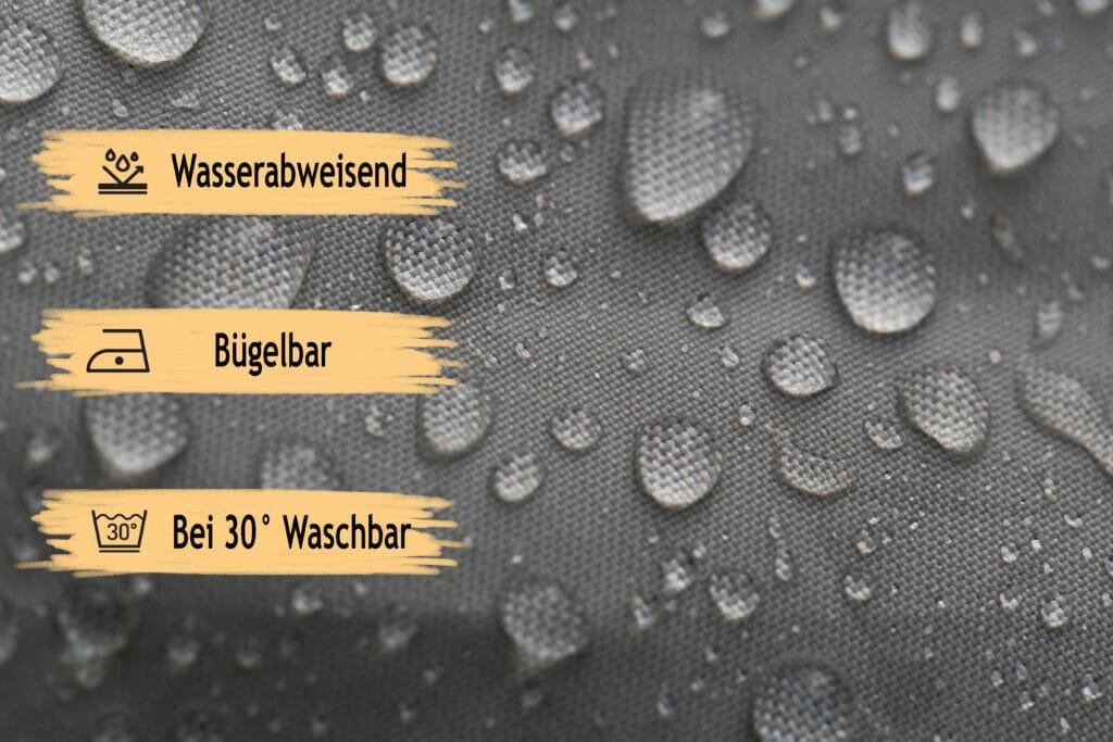 Verdunklungsstoff Wasserabweisend Bügelbar Waschbar Grau