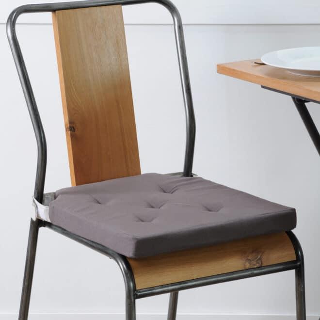 Sitzkissen dunkelgrau stuhl