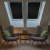Sonnenschutz für Dachfenster | Perfekt für Velux und Roto Fenster | 100% Verdunkelung | Sonnen und UV Schutz Schwarz Wohnzimmer